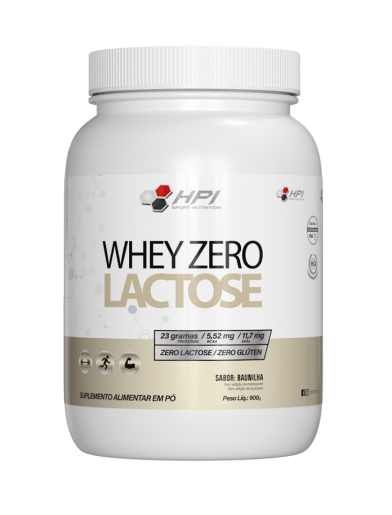WHEY PROTEIN ZERO LACTOSE 900G HPI SPORT NUTRITION